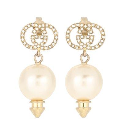 Gg Crystal-Embellished Earrings - Gucci   Mytheresa