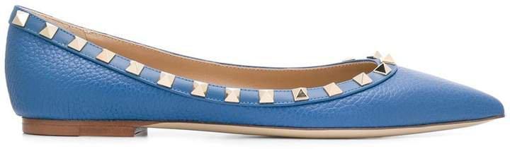 Rockstud ballerina shoes