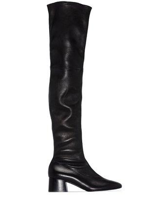 Khaite Sedona over-the-knee leather boots - FARFETCH
