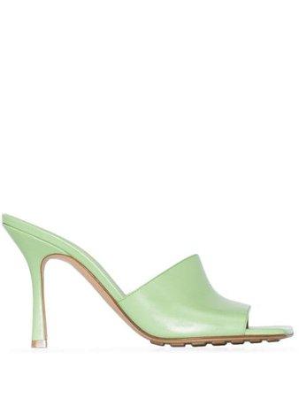 Bottega Veneta slip-on 90mm leather sandals - FARFETCH
