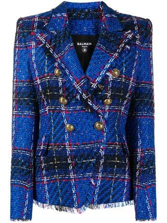 Balmain Tweed double-breasted Blazer - Farfetch