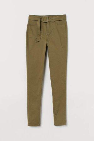 Skinny High Jeans - Green