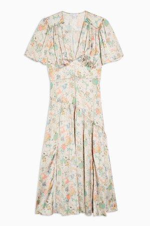 Willow Floral Print Angel Sleeve Midi Dress | Topshop