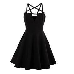 black summer pentagram dress