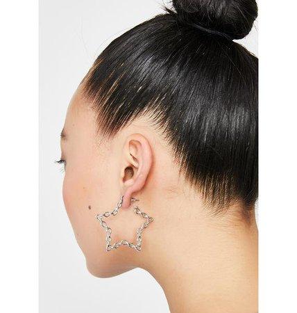Chain Star Earrings | Dolls Kill