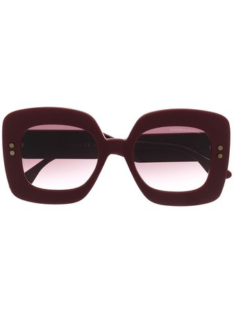 Bottega Veneta Eyewear oversized-frame Sunglasses - Farfetch