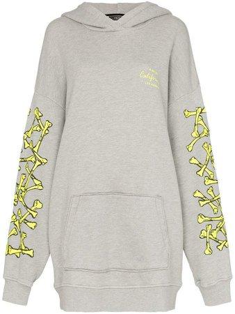 oversized logo sleeve hoodie