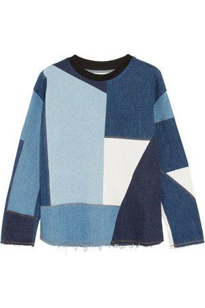 Victoria Beckham patchwork sweatshirt