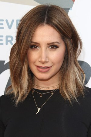 Ashley Tisdale Wavy Medium Brown All-Over Highlights, Bob, Shaggy Bob Hairstyle | Steal Her Style