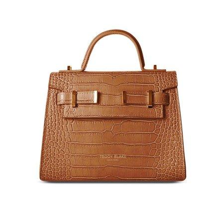 Teddy Blake, Ava Bag Croco Gold 9 Camel Brown