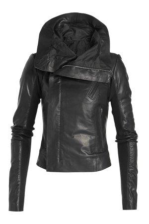 Leather Biker Jacket with Virgin Wool Gr. IT 44