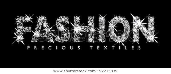 White Diamond Fashion Text Black Background Stock Vector (Royalty Free) 92215339