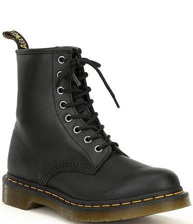 Dr. Martens Women's 1460 Black Nappa Combat Boots | Dillard's