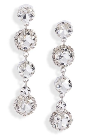 CRISTABELLE Crystal Linear Drop Earrings   Nordstrom