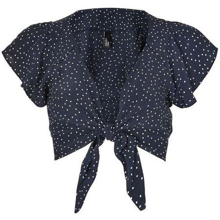Black polka dot top