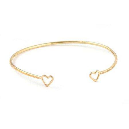 Bracelets | Shop Women's Gold Sterling Silver Cuff Bracelet at Fashiontage | AGA254GF