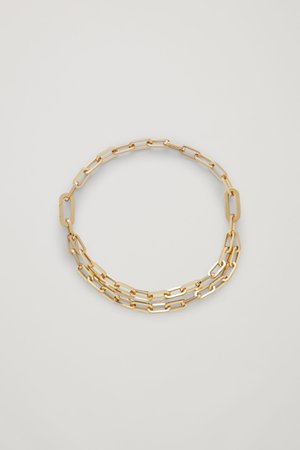 DOUBLE CHAIN NECKLACE - gold - Jewellery - COS GB