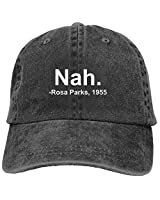 *clipped by @luci-her* Denim Cap Nah. Rosa Parks, 1955 Baseball Dad Cap Adjustable Classic Sports for Men Women Hat at Amazon Men's Clothing store