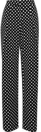 W118 By Baker Kris Polka-dot Twill Wide-leg Pants