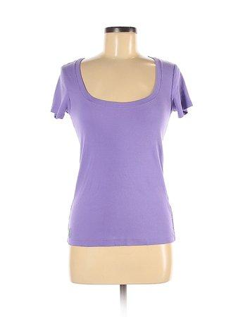Ralph Lauren 100% Cotton Solid Purple Short Sleeve T-Shirt Size M - 58% off | thredUP