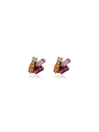 Suzanne Kalan 18kt Gold And Sapphire Stud Earrings - Farfetch