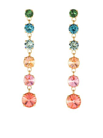 Roxanne Assoulin Rainbow drop earrings