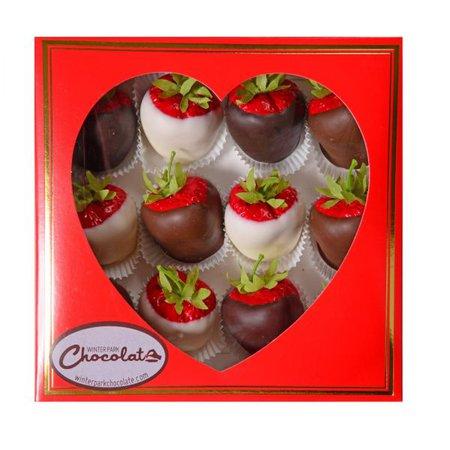 Valentine Box of Chocolate Covered Strawberries