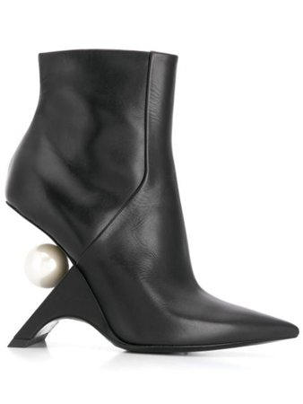 Shop black Nicholas Kirkwood JAZZELLE ankle boots 105mm with Express Delivery - Farfetch