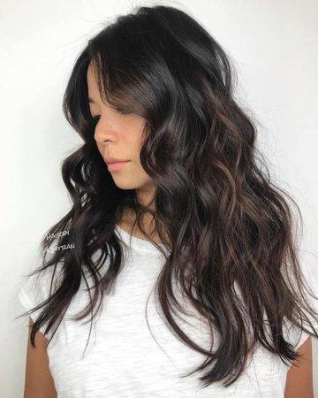 Wavy dark hair