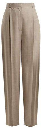 Elin Wool Blend Trousers - Womens - Grey Multi