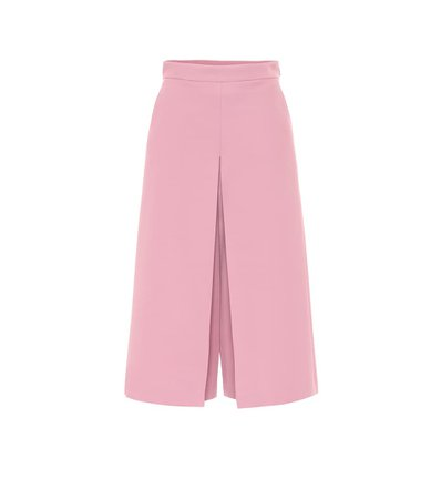 Gucci - High-rise wide silk-blend pants | Mytheresa