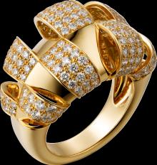 Cartier, Coup d'Éclat de Cartier ring Yellow gold, diamonds
