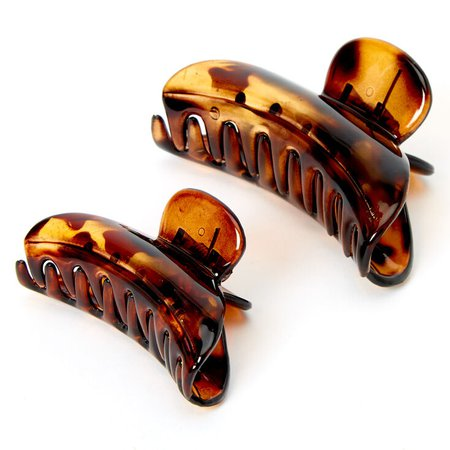 Solid Tortoiseshell Hair Claws - Brown, 2 Pack | Claire's