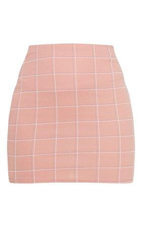 Black Checked Mini Skirt | Skirts | PrettyLittleThing USA