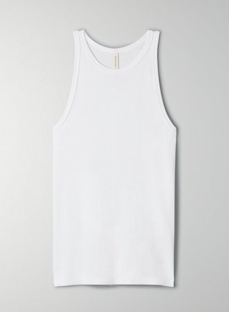 The Group by Babaton FOUNDATION RIB RACER TANK | Aritzia US