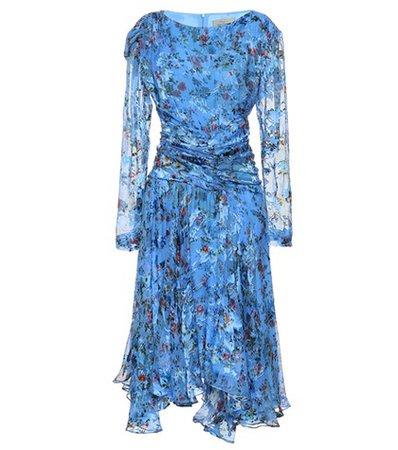 Kelsey silk-blend devore dress