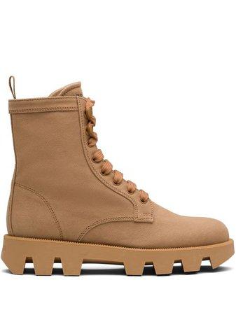 Prada Denim Ankle Boots - Farfetch