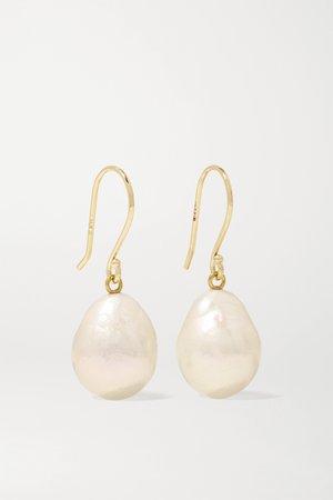 Gold 14-karat gold pearl earrings   Mizuki   NET-A-PORTER