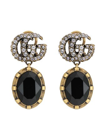 Gucci crystal-embellished Double G Earrings - Farfetch