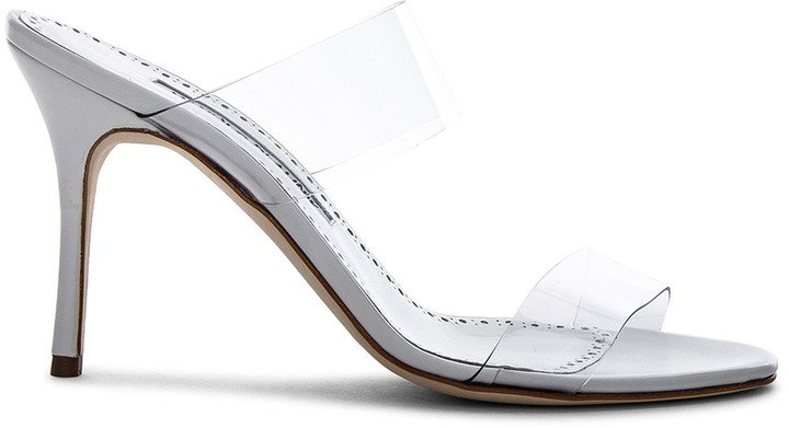 PVC Scolto Sandals in White Leather | FWRD