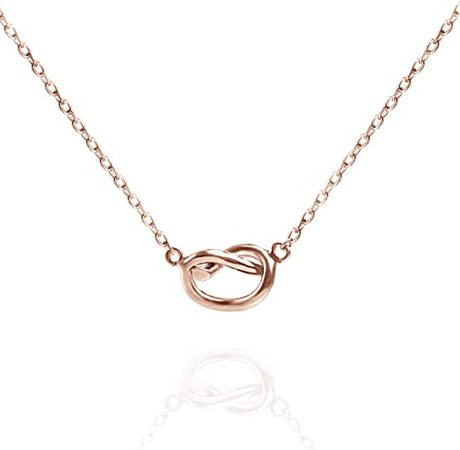 Amazon.com: PAVOI 14K Rose Gold Plated Infinity Necklace | Bridesmaids Gifts | Rose Gold Necklaces for Women: Jewelry