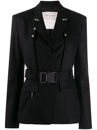 Black 1017 Alyx 9Sm Buckled Blazer   Farfetch.com