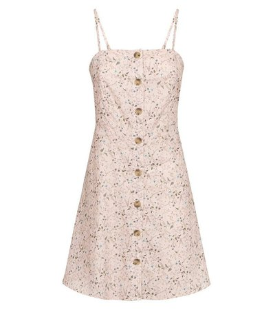 New Look Pink Ditsy Floral Sundress