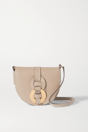Darryl Small Textured-leather Shoulder Bag - Gray
