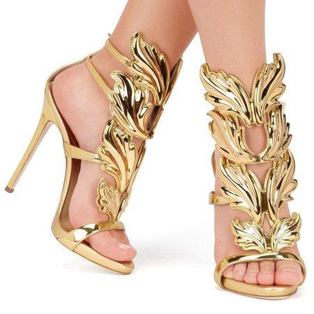 Leaf Flame Gladiator Sandals - Heels