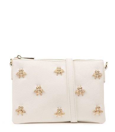 PETA & JAIN-  Bee Pj White Smooth bag