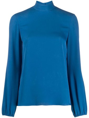 THEORY stand-up collar blouse