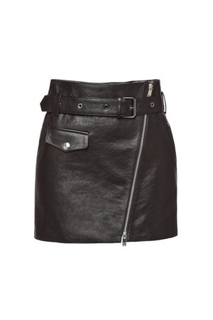 Sonia Rykiel - Leather Mini Skirt - Soldes!