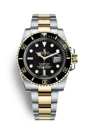 Rolex Submariner Date Watch: Yellow Rolesor - combination of Oystersteel and 18 ct yellow gold - M116613LN-0001