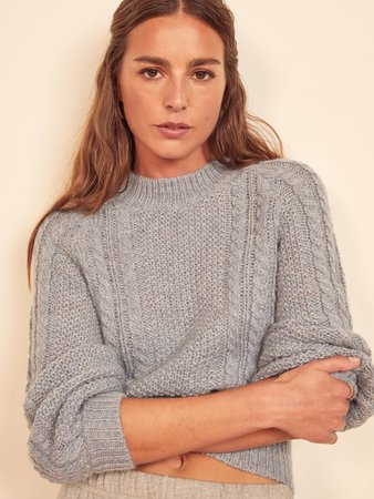 Dita Cable Knit Sweater | Reformation